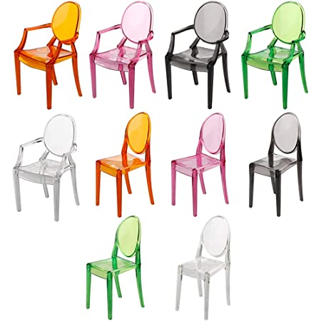 2 x 1//6 Office Swan Chair Lounge Chair Dolls Accessory Kids Pretend Play Toy
