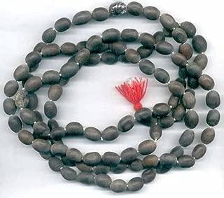 LOTUS SEED BEADS OR KAMAL GATTA KAMALGATTA 108+1 PRAYER BEADS ROSARY JAAP JAPA MALA KARMA NECKLACE. BLESSED & ENERGIZED HINDU TIBETAN BUDDHIST SUBHA ROSARY FOR NIRVANA, BHAKTI, FOR REMOVING INNER DOSHAS, FOR CHANTING AUM OM, FOR AWAKENING CHAKRA, KUNDALINI THROUGH YOGA MEDITATION