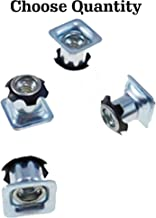 Threaded Inserts for Square Tubing - Metal Threaded Star Type Insert 3/4