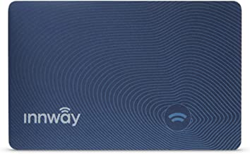 Innway Card - Ultra Thin Rechargeable Bluetooth Tracker Finder. Find Your Wallet, Bag, Backpack, Keys, Laptop,Tablet(Blue)