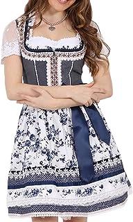 Krüger Dirndl Krüger MADL Damen Dirndl Angelina 47805 - Marineblau 50cm - Romantisches Trachtenkleid