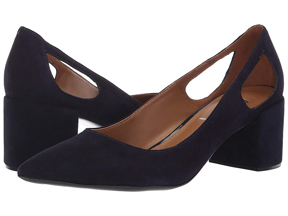 French Sole Courtney2 Heel (Navy Suede) Women