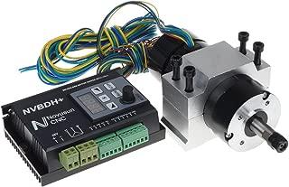 UCONTRO DC CNC Brushless Driver Kit 400W 48V DC ER8 Brushless Motor with Hall & 600W 24-60V Driver with Control Panel & Motor Mount