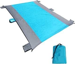 SKEIDO Sand Proof Beach Blanket Oversized Lightweight Fordable Waterproof Picnic Mat Family Travel Kit for Outdoor Camping...
