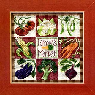 Farmer's Market - Beaded Cross Stitch Kit MH143103 - Buttons & Beads 2013 Spring