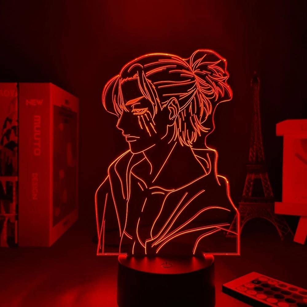 Attack on Titan Japanese In a popularity Anime Credence Light Illusion 3D 1 LED Sign Lamp