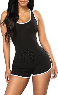 Women's Summer Tank Top Bodycon Shorts Sportswear Romper