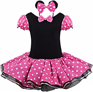 Rush Dance Happy Birthday Girl 2 Pcs Mickey Tutu Dress Pettiskirt & Headband Set