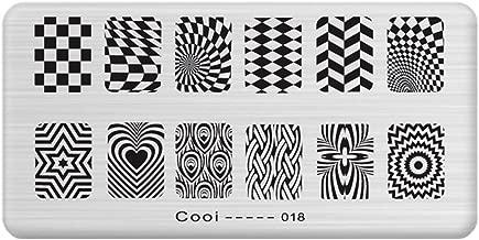 E052 Nail art printing template rectangular blue film diy painted steel stamp printing stamp tool Manicure Print