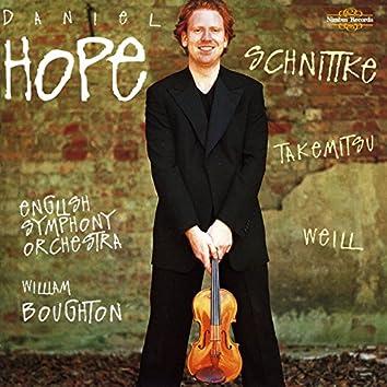 Schnittke, Takemitsu & Weill: Violin Concertos