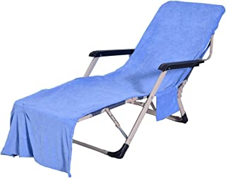 VOCOOL Chaise Lounge Pool Chair Cover Beach Towel Fitted Elastic Pocket Won't Slide 85