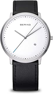 BERING Men's Analogue Quartz Watch with Leather Strap 11139-404