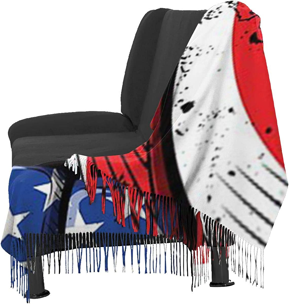 Volleyball American Flag Cashmere Shawl Wrap Scarf Large Warm Scarf For Women