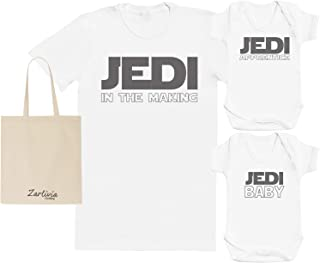 Jedi in The Making - Maternity Hospital Gift Set Bag with Hospital T-Shirt & 2X New Baby Bodysuit