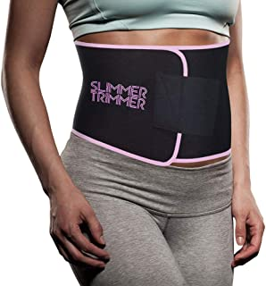 Slimmer Trimmer Premium Waist Trimmer - Weight Loss Sweat Belt Waist Trainer for Women & Men Adjustable Thermal Stomach Slimming Wrap. Belly Fat Burner, Abdominal and Lower Back Support