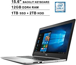 2019 Newest Dell Inspiron 15 5570 15.6 Inch Touchscreen FHD 1080p Laptop (Intel 4-Core i7-8550U up to 4.0GHz, 12GB DDR4 RAM, 1TB SSD (Boot) + 2TB HDD, Intel UHD 620, Backlit KB, Windows 10)