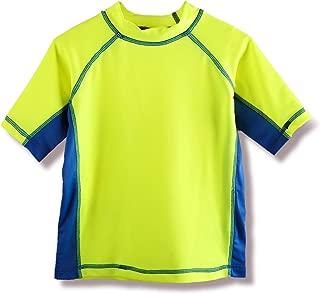 REMEETOU Boys' Rashguard Swim Short Sleeve Shirt,UPF 50 Sun Protective Swimsuit for Youth,Surf Tee for Toddler