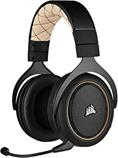 Corsair HS70 PRO Auriculares inalámbricos para videojuegos, color crema (renovado)