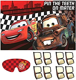 "AmscanDisney Cars Formula Racer Birthday Party Game, 37 1/2"" X 24 1/2"", Red/Brown/White"