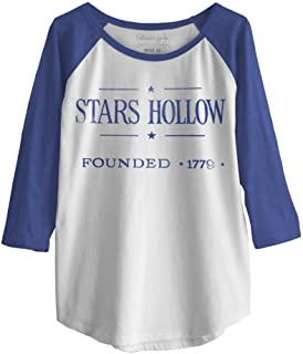 Ripple Junction Gilmore Girls Vintage Stars Hollow Junior Baseball Raglan 3/4 Sleeve