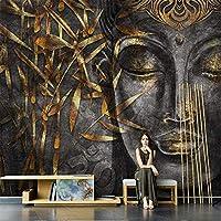 QQYYYT ウォールアートポスター-3Dブッダモダン壁画寝室リビングルーム3Dエフェクトポスター壁装飾絵画