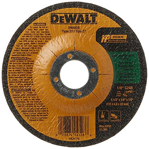 DEWALT 4-1/2' Cut Off Wheel, Concrete/Masonry, 4-1/2' x 1/8' x 7/8' (DW4528)
