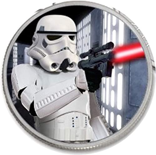 Nation of Niue, Star Wars Stormtroopers Endor Battle.999 Pure argent Couleurized Only 218 Minted, Not a Reproduction