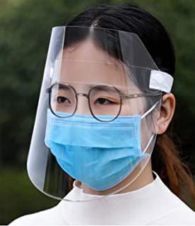 2 Pack Face Shield Protect Eyes and Face with Protective Clear Film Elastic Band