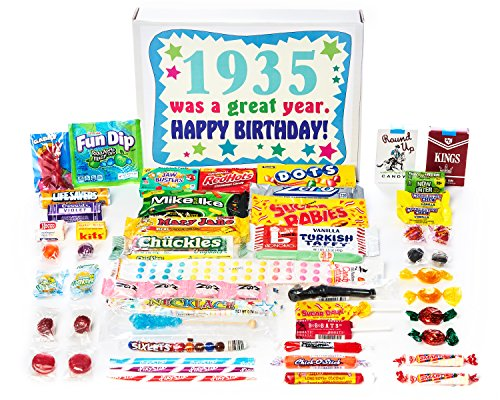 Woodstock Candy ~ 1935 85th Birthday Gift Box of Nostalgic Retro Candy Mix from Childhood for 85 Year Old Man or Woman Born 1935
