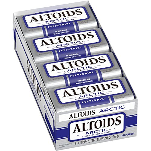 Altoids Arctic Peppermint Sugarfree Mints 8 pk pack of 2
