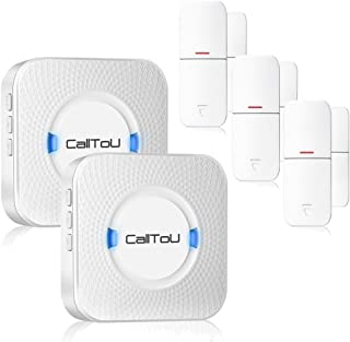 CallToU Wireless Door Open Chime Sensor Entrance Chime Entry Alert Alarm For Business Home Retail Store Shop Apartment Office 3 Magnet Door/Window sensors 2 Receivers
