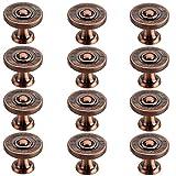 Poxl - Tirador para Muebles (12 Unidades, para cajones, cajones y cajones, aleación de cinc)