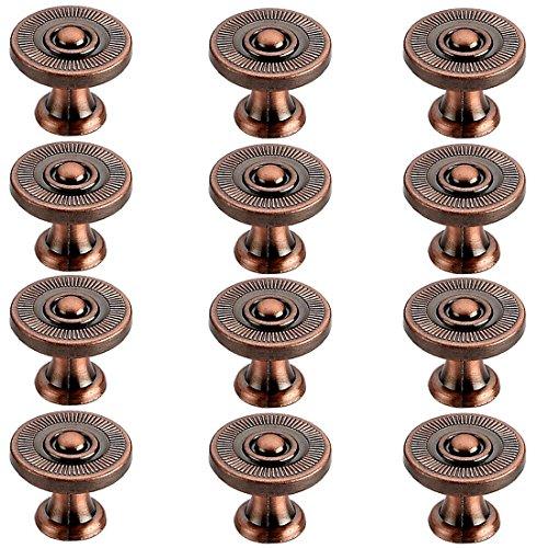 iTECHOR 12Pcs Knob Armadio Cassetto Porta Single Hole Pull Maniglia (Ø 22 mm)