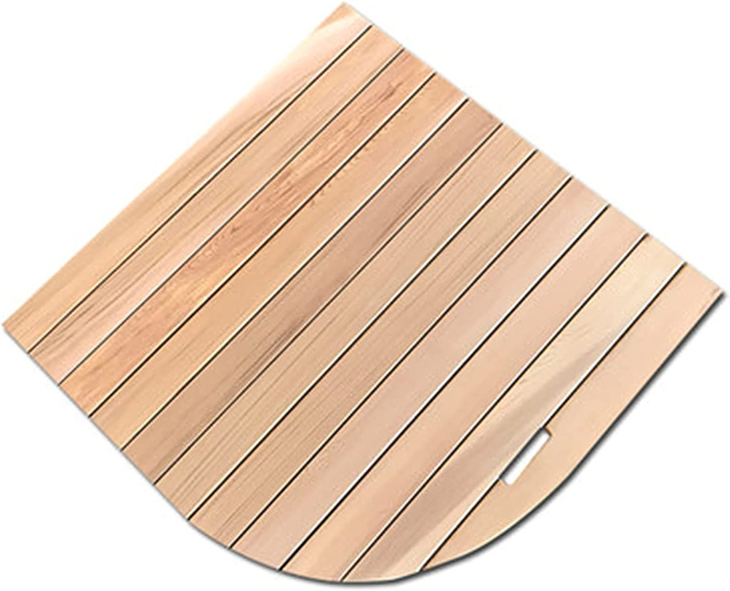 XXIOJUN Limited time trial price Fan-Shaped Diamond-Shaped Solid Bathroom Non-Slip Our shop most popular Wood M