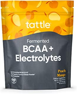 Tattle Vegan BCAA Powder & Electrolytes – All Natural Fermented BCAA (2:1:1) & Electrolytes for Muscle Endurance, Recovery...