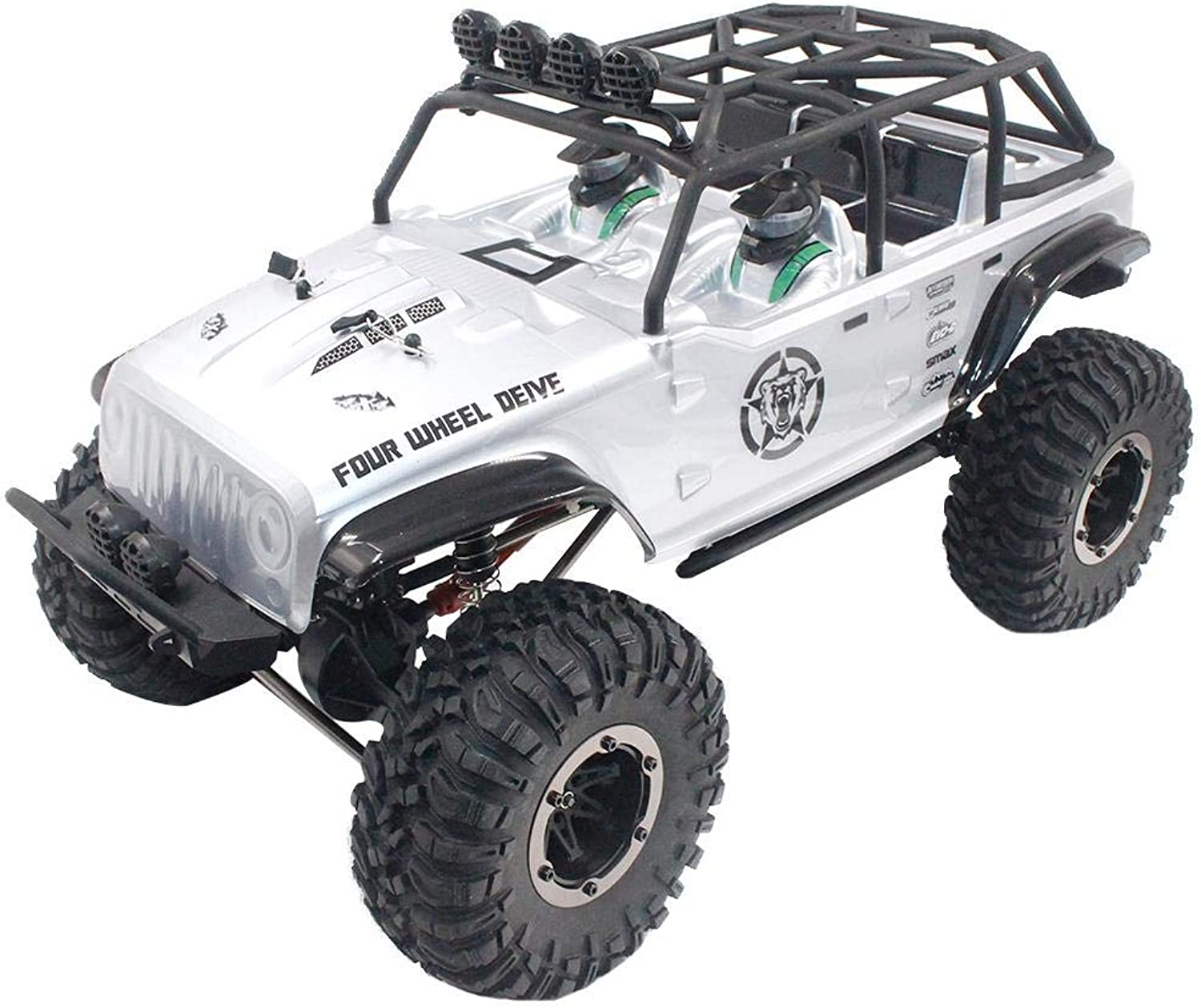 Motto.h Remo Hobby 1073-SJ 1 10 2.4G 4WD Brushed Rc Car,Big Wheel Off-road Remote Control Vehicle Rack Crawler Trail Rigs Truck RTR Toy For Kids Boys Adults.