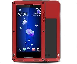 Eastcoo Armor - Carcasa híbrida de Aluminio para HTC U11, Carcasa de Metal Resistente con Protector de Pantalla de Cristal Gorilla para HTC U11, Rojo, HTC U11
