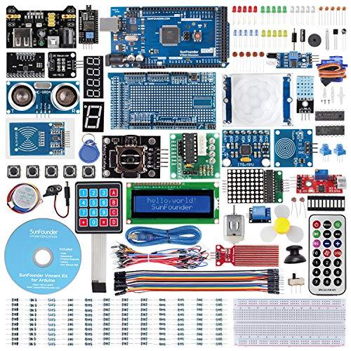 SunFounder Mega2560 R3 Project - Das vollständigste Starter Kit Kompatibel mit Arduino Mega 2560 R3 Mega328 Nano, Mega2560 Board und 40 Tutorials enthalten