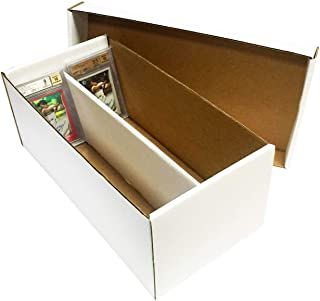 (5) Graded Shoe 2-Row Cardboard Storage Boxes - Baseball, Football, Basketball, Hockey, Nascar, Sportscards, Gaming & Trading Cards Collecting Supplies by MAX PRO - GSB