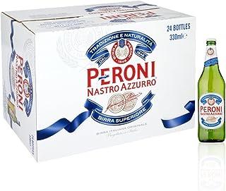 Peroni Nastro Azzurro Beer Pint, 330ml (Pack of 24 bottles)