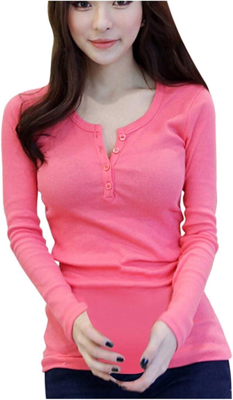 Glqwe Lingerie Women Thermal Underwear Winter Lingerie Long Sleeve O-Neck Thermal Top Thermal Shirt Women Top (Color : Pink, Size : Medium)