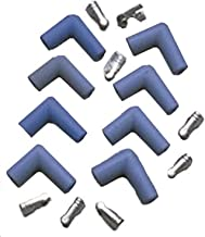 Taylor Cable 46061 Blue 90-Degree Spark Plug Boot/Terminal Kit - Pack of 8