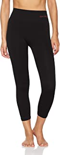 Sundried Women's Capri Pants 3/4 Leggings Tights for Yoga Running Gym by Ethical Activewear Brand (Small, Black)