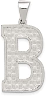 925 Sterling Silver Initial Monogram Name Letter B Pendant Charm Necklace Fine Jewelry Gifts For Women For Her