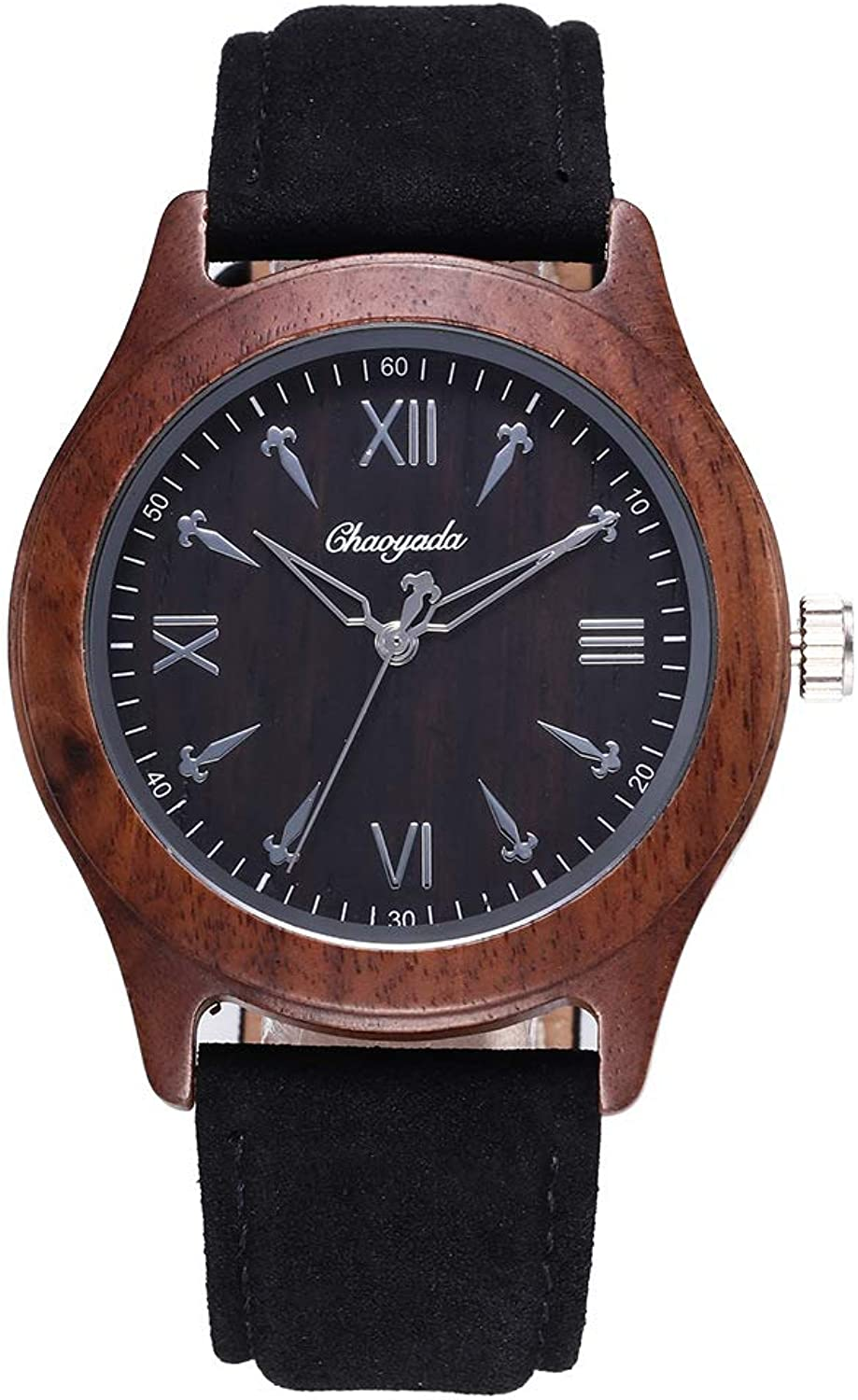 Men's Watch Sandalwood Watch Belt Ebony Men's Wooden Watch Wood Watch (color   3)
