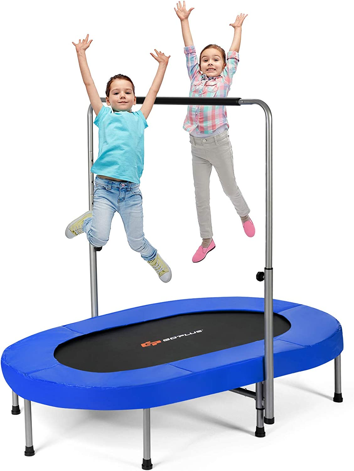 OFFicial site Now free shipping Goplus Foldable Trampoline Double Kids Mini Rebounde