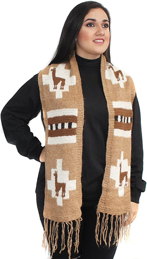 SCARF WRAPS INCAICO natural ALPACA All items Max 56% OFF in the store made RUSTIC PERU