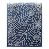 Kwan Crafts Spider Web Halloween Deco Plastic Embossing Folders for Card Making Scrapbooking and Other Paper...