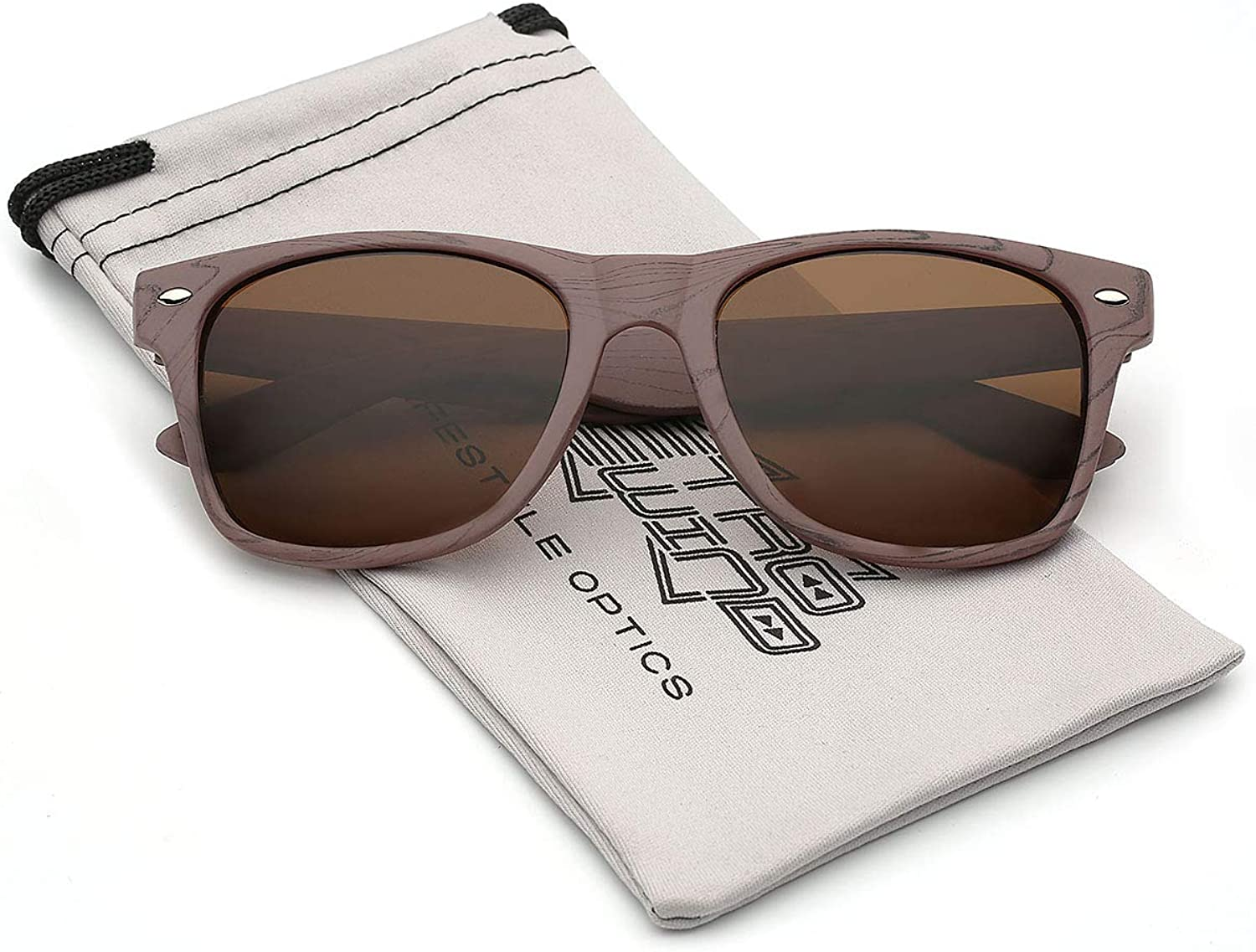 pink Wood Print Frame Sunglasses