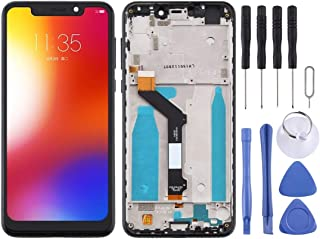 Mobile Phones Communication Accessories LCD Screen and Digitizer Full Assembly with Frame for Motorola Moto One (P30 Play)...
